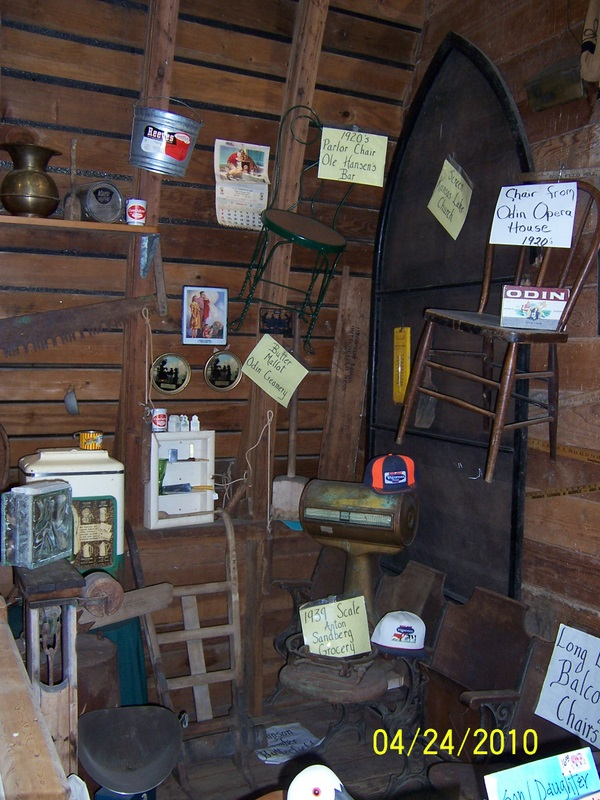 The loft has memorabilia from Odin's bar, opera house, creamery and more!